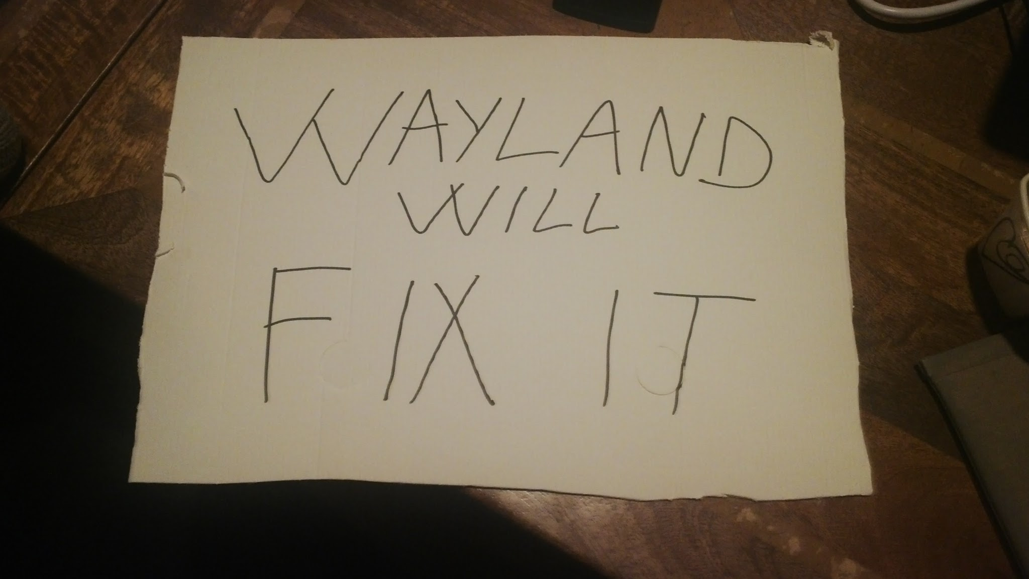 Wayland will fix it!